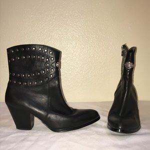 Harley Davidson Studded Leather Boots 8 Motorcycle